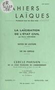La laïcisation de l'État civil