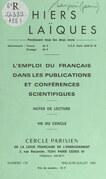 L'emploi du français dans les publications et conférences scientifiques