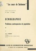 Démographie : problèmes contemporains de population