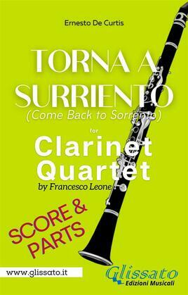 Torna a Surriento - Clarinet Quartet (score & parts)