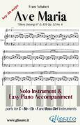 Ave Maria (Schubert) - Solo & Easy Piano (key Bb)