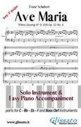 Ave Maria (Schubert) - Solo & Easy Piano (key F)