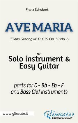 Ave Maria (Schubert) - Solo instrument & Easy Guitar