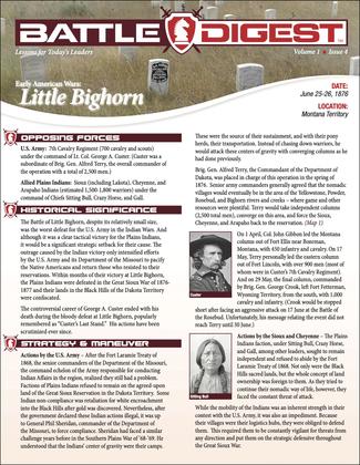 Battle Digest: Little Bighorn