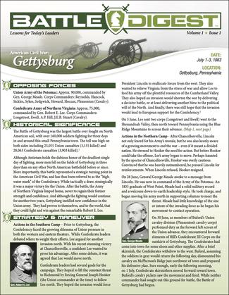 Battle Digest: Gettysburg