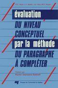 Évaluation du niveau conceptuel par la méthode du paragraphe à compléter