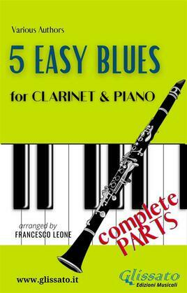 5 Easy Blues - Clarinet & Piano (complete)