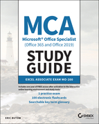 MCA Microsoft Office Specialist (Office 365 and Office 2019) Study Guide