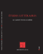 Études littéraires, vol. 48.1-2, hiver 2019