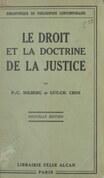 Le droit et la doctrine de la justice