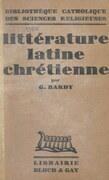 Littérature latine chrétienne