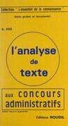 L'analyse de texte aux concours administratifs