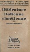 Littérature italienne chrétienne