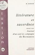 Littérature et sacerdoce : essai sur « Journal d'un curé de campagne », de Bernanos