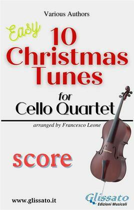 10 Christmas Tunes for Cello Quartet (score)