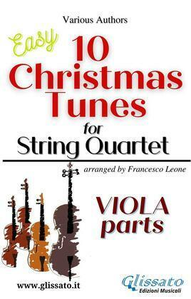 "Viola part of ""10 Christmas Tunes"" for String Quartet"