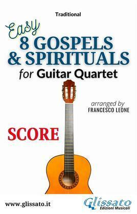 8 Gospels & Spirituals for Guitar quartet (score)