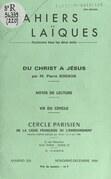 Du Christ à Jésus