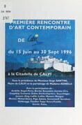 Première Rencontre d'art contemporain de Calvi