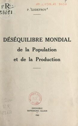 Déséquilibre mondial de la population et de la production