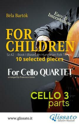 """Cello 3 part of """"For Children"""" by Bartók"""