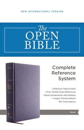 The NIV, Open Bible, eBook