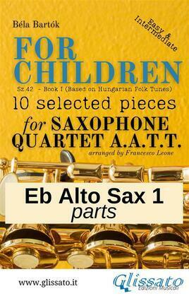 """Alto Sax 1 part of """"For Children"""" by Bartók - Sax 4et AATT"""