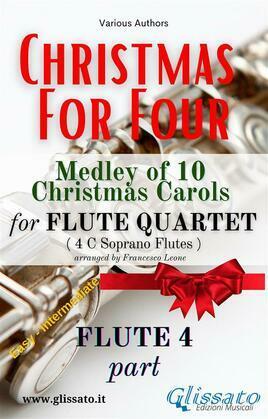 """Flute 4 part of """"Christmas for four"""" Flute Quartet"""