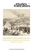 Études françaises. Vol. 57 No. 1,  2021