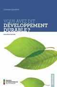 Vous avez dit développement durable? 2e édition