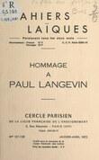 Hommage à Paul Langevin