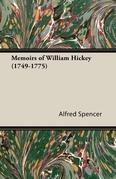 Memoirs of William Hickey (1749-1775)