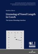 Licensing of Vowel Length in Czech