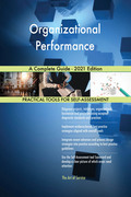 Organizational Performance A Complete Guide - 2021 Edition