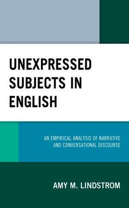 Unexpressed Subjects in English