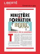 Revue Liberté 305 - Dossier - Ministère de la formation