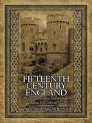 Fifteenth Century England a Comprehensive Chronology