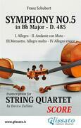 Symphony No.5 - D.485 for String Quartet (score)