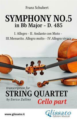 Symphony No.5 - D.485 for String Quartet (Cello)