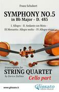 Symphony No.5 - D.485 for String Quartet (Cello)