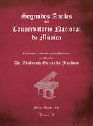 Segundos Anales Del Conservatorio Nacional De Música