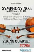 Symphony No.4 - D.417 for String Quartet (score)