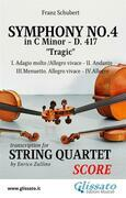 Symphony No.4 - D.417 for String Quartet (score)