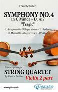 Symphony No.4 - D.417 for String Quartet (Violin 2)
