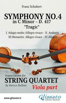 Symphony No.4 - D.417 for String Quartet (Viola)