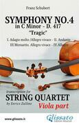 Symphony No.4 - D.417 for String Quartet (Viola)