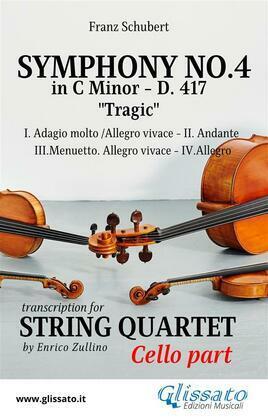 Symphony No.4 - D.417 for String Quartet (Cello)