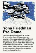 Yona Friedman / Pro Domo