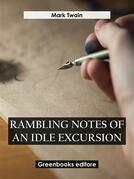Rambling Notes of an Idle Excursion