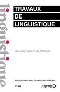 Travaux de linguistique n° 80